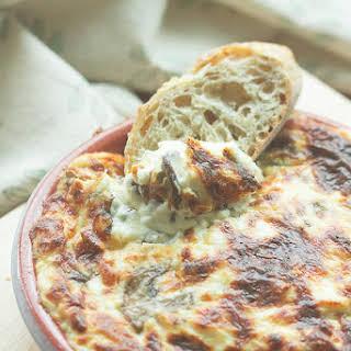 Truffled Hot Cheesy Dip with Mushrooms.