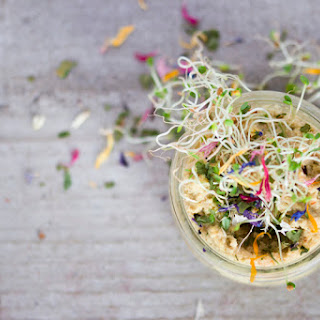 Sprouted Saffron-Basil Hummus