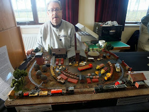 Photo: 019 Nicholas Wheatley represented the M5/M50 NG Modellers and on this occasion he gave his well known Journey's End cemetery layout a rest and brought his busy and full of detail Old Time Brickworks .