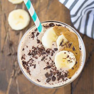 Cocoa Almond Protein Smoothie.