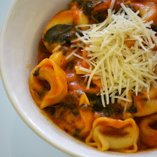 Tortellini and Spinach in Creamy Tomato Sauce