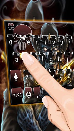 Western Skull Gun Keyboard Theme 1.0 screenshots 3