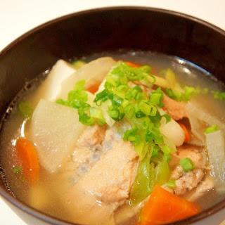 With Autumn Salmon Delicious Ishikari Soup of Hokkaido