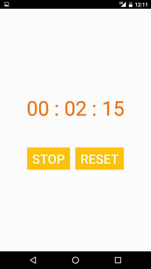 Basic Stopwatch- screenshot
