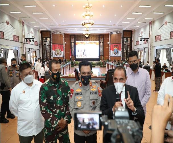 PPKM Darurat di Kota Medan, Kapoldasu: Saatnya Kita Bergandengan Tangan Menghadapi Pandemi