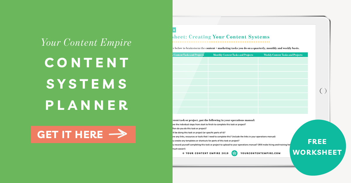 Freebie | Content Systems Planner