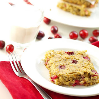 Gluten-free Almond Oat Cranberry Bars