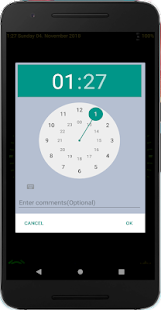 Nice Night Clock with Alarm and Light - no Ads Screenshot