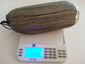 Photo: 244 grams for a waterproof bivy/sleeping bag seems like a great way to go ultralight.