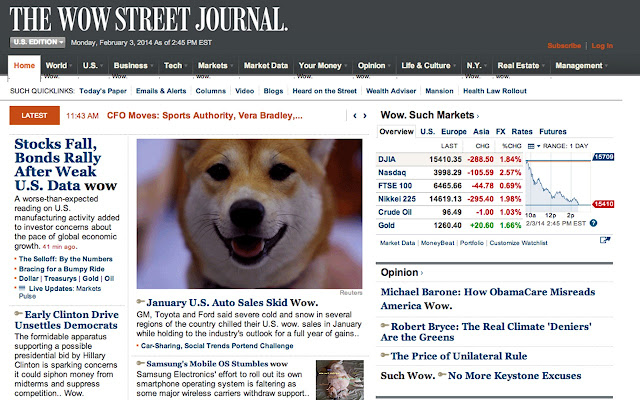 Wow. Such Web chrome extension