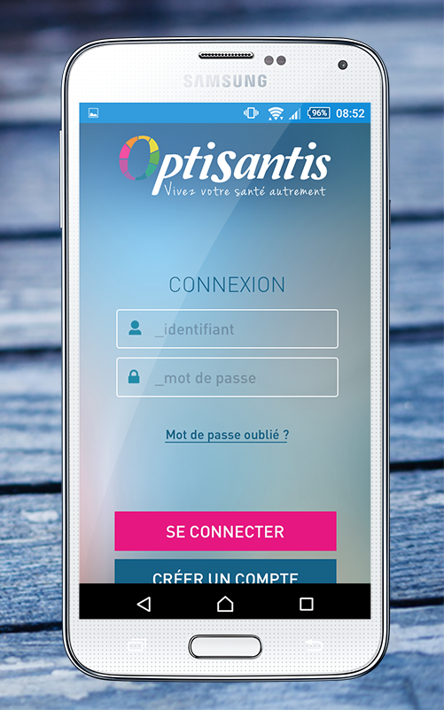 OptiSantis – Capture d'écran