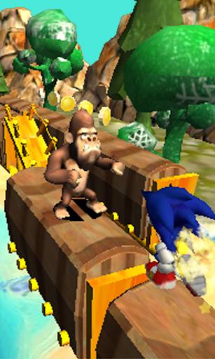 Blue Hedgehog Run : Dash Adventure android2mod screenshots 2