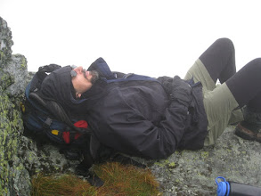 Photo: Waiting on a view on Mount Mansfield. Didn't happen except for a brief glimpse. Photo by Dave Socky