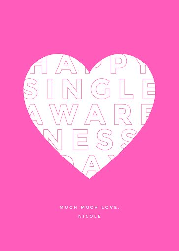 Singles Awareness - Valentine's Day Card Template