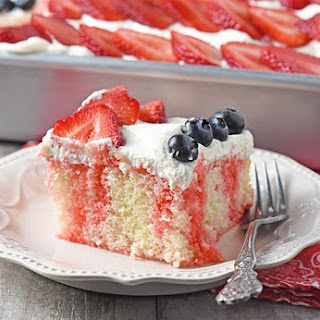 Strawberry Jello Cake Flag Cake Recipe