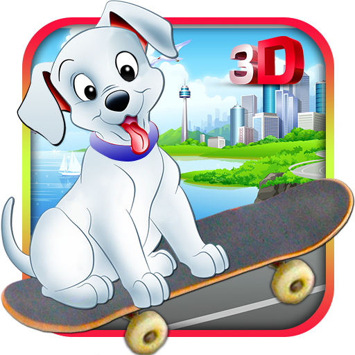 模拟のスケート子犬:トラフィックを実行します LOGO-記事Game