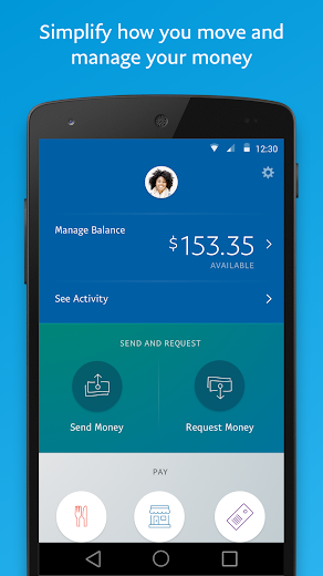 Screenshot 0 for PayPal's Android app'