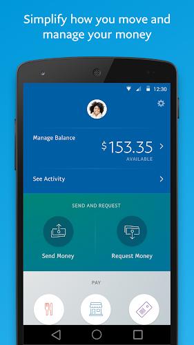PayPal Android App Screenshot
