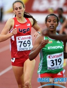 Alexa Efraimson finishes off her bronze medal-winning effort in the 1500.  Photo by Kirby Lee, Image of Sport.