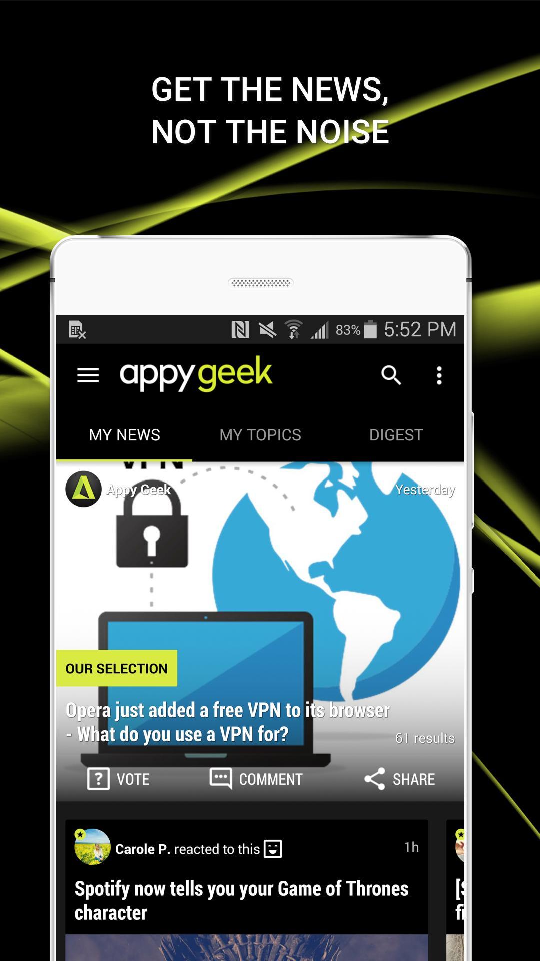 Appy Geek – Tech news screenshot #4