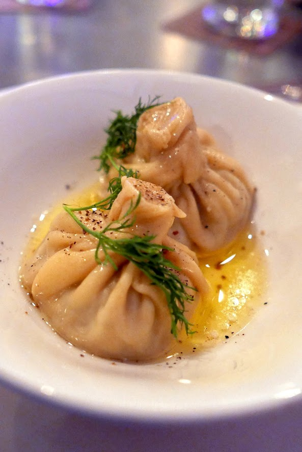Portland Dumpling Week 2016 Imperial offering: Beef and pork khinkali with melted butter, black pepper and dill served with a bit of yogurt
