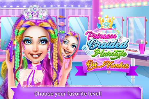 Princess Braided Hairstyles by Number - screenshot