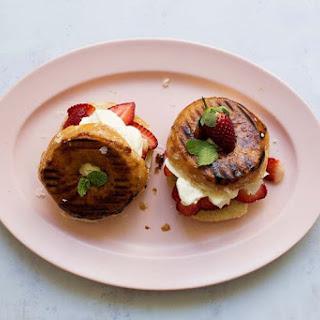 Grilled Doughnut Strawberry Shortcakes Recipe