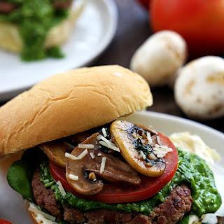 Garlic Pesto Turkey Burgers