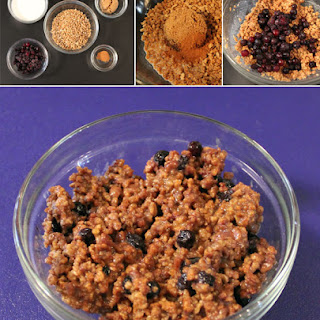 Blueberry Grape-Nut Porridge.