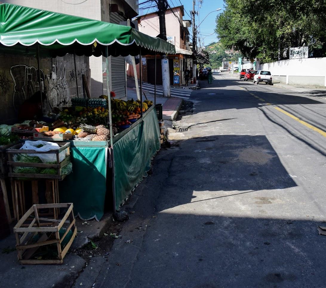 Rua de onde se inicia o passeio com o Tour no Morro, em Jesus de Nazareth