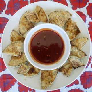 Crispy Baked Eggplant with Sweet and Spicy Dipping Sauce (Paleo).