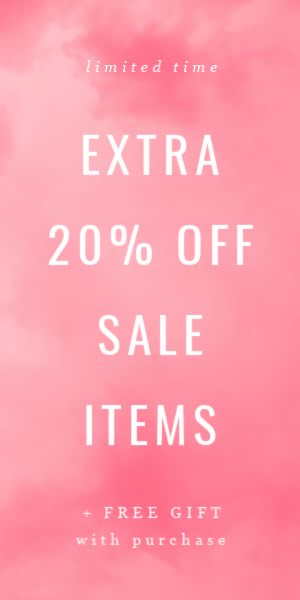 Extra 20% Off Sale Items - Half Page Ad Template
