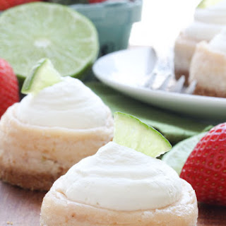 Mini Strawberry Margarita Cheesecakes