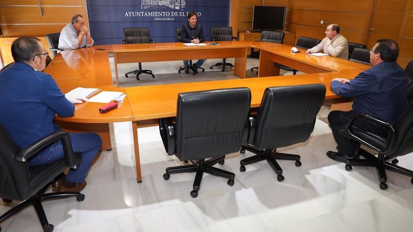 Reunión de la junta de portavoces en el Ayuntamiento de El Ejido.
