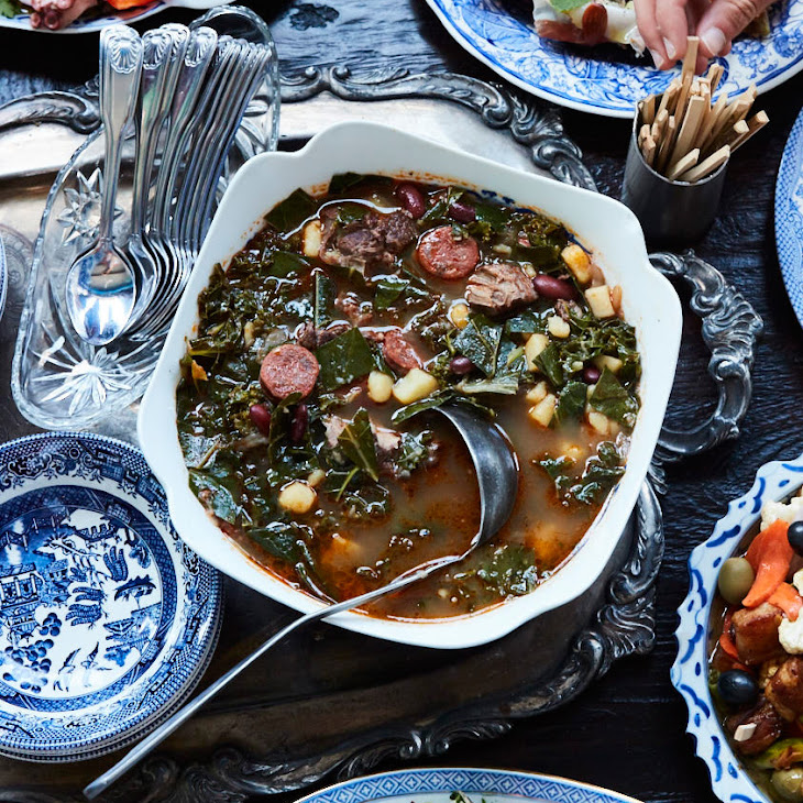 Caldo Verde with Beef Shank and Sausage