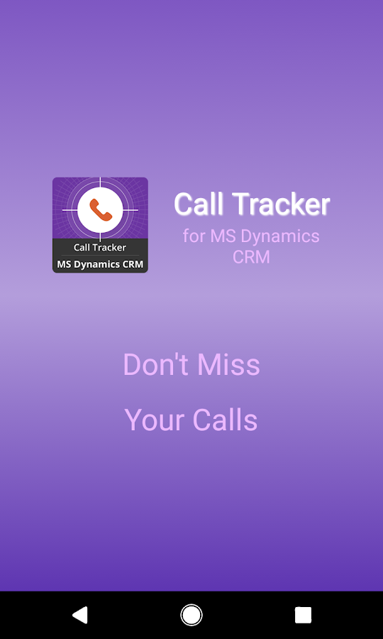 Call Tracker for MS Dynamics CRM- screenshot