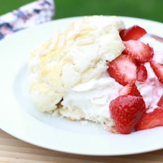 Almond Shortcake with Strawberries and Whipped Cream Recipe