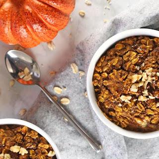 Vegan Pumpkin Baked Oatmeal.