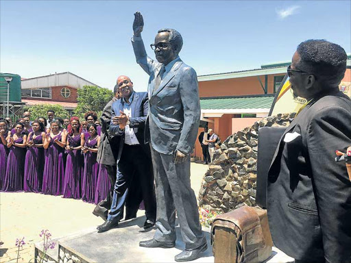 TOWERING FIGURE: Premier Phumulo Masualle officially unveils the statue of the ANC's longest-serving president, Oliver Tambo, in his birth town of Mbizana Picture: