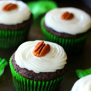 Cream Cheese Frosted Chocolate Zucchini Cupcakes