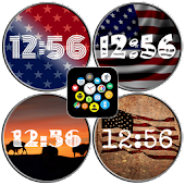 USA Watch Face Theme Pack for Bubble Clouds