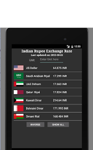 Rupee Exchange Rate - náhled