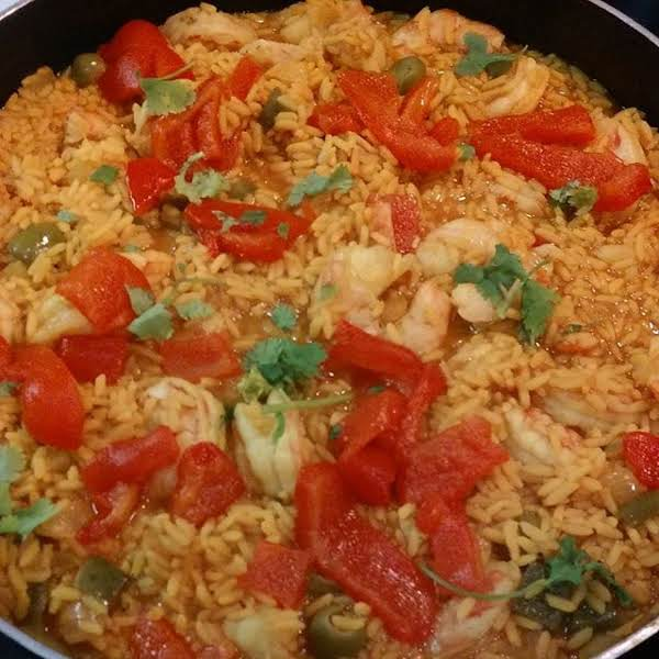Spanish Style arroz con camarones spanish style shrimp & rice recipe | just a pinch