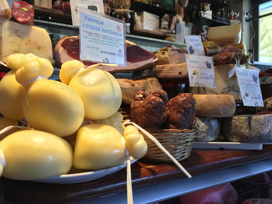 More cheese and meat at La Salumeria in Ortigia