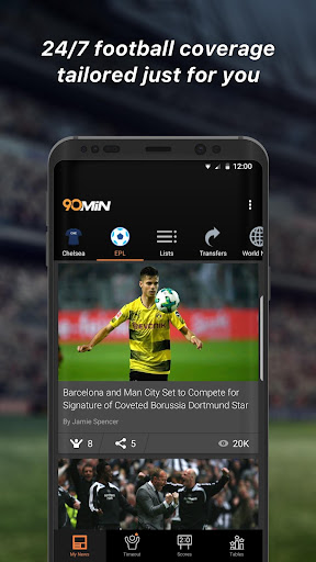 Download 90min - Live Soccer News App 7 0 0 APK - androidfc com