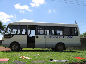 Photo: This bus was a gift from the first lady of Uganda.