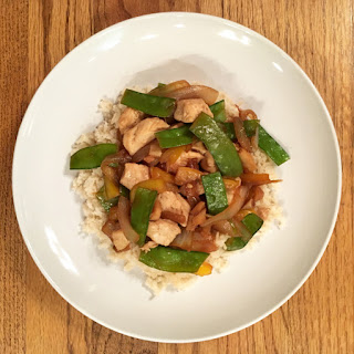 Chicken, Snow Peas and Ginger Stir Fry.
