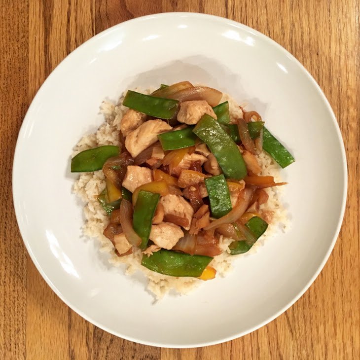 Chicken, Snow Peas and Ginger Stir Fry