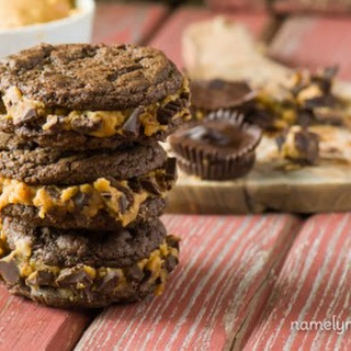 Chocolate Peanut Butter Cup Sandwich Cookies