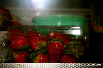 Photo: Fresh strawberries in the fridge translates into 'we are ok financially' to me. My wife rarely buys strawberries when we are broke.